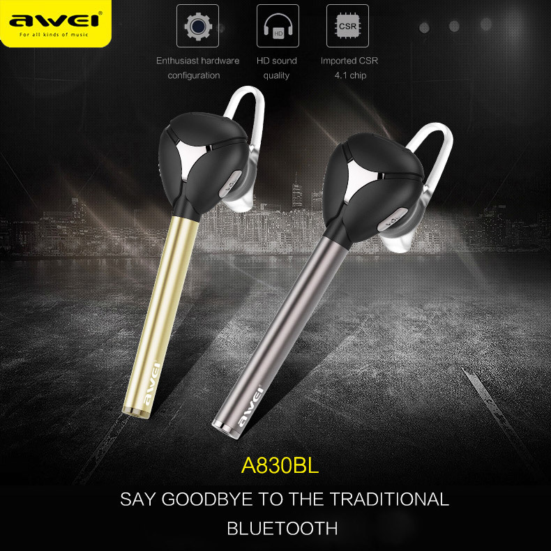 Awei A830BL Wireless Headset Bluetooth 4.1 Car Kit handsfree for calls and music CVC 6.0 Noise Cancelling