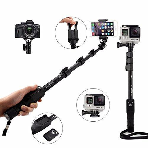 Yunteng 1288 Monopod with bluetooth Shuttle + Tripod Stand 288