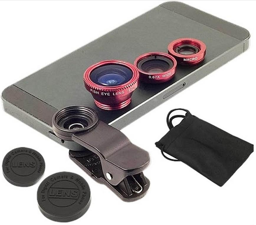 Image result for Universal Clip-on Lens With 3-in-1 Effect