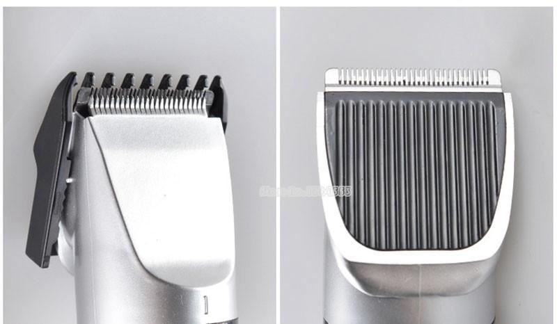 Red Kemei KM-730 Rechargeable Wireless Hair Clipper Professional Shaving Machine Razor Barber Cutting Beard Trimmer Men's Care-2