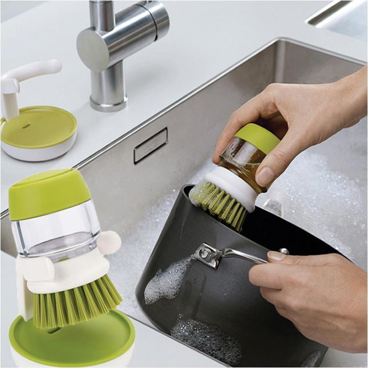 High Quality Kitchen Tools Automatic Liquid Cleaning Brush