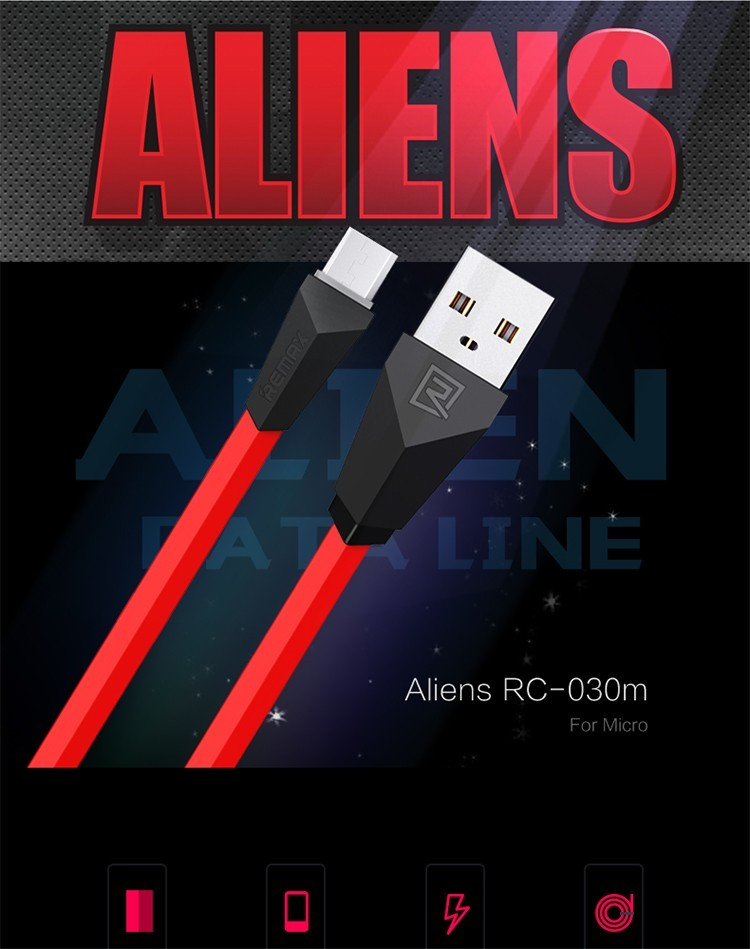 Remax RC-030m Alien Series Micro USB Charging Cable USB