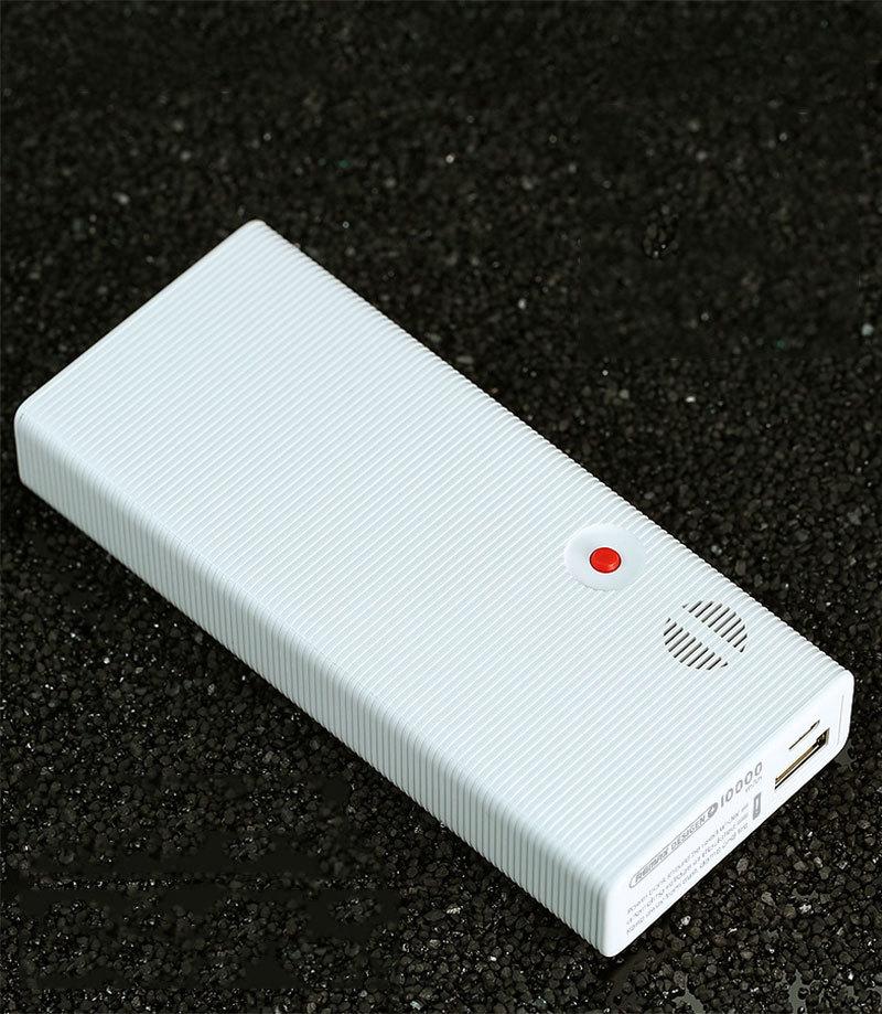 10000 mAh 18650 5V 2 4A Powerbank Phone External Battery Backup Charger -  White