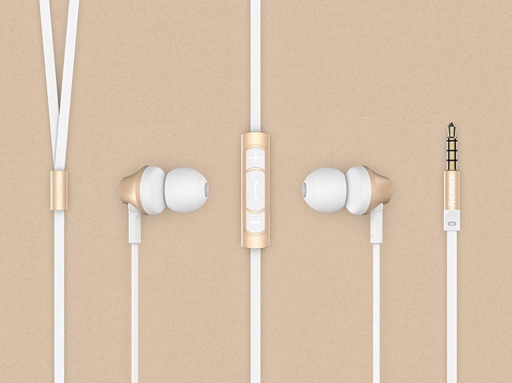 REMAX RM 610D 3.5mm Plug Headphone In-Line Control Stereo Earphone