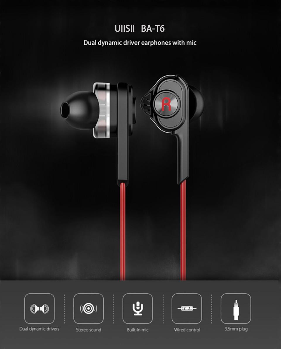 UiiSii BA-T6 - In-Ear Earphone