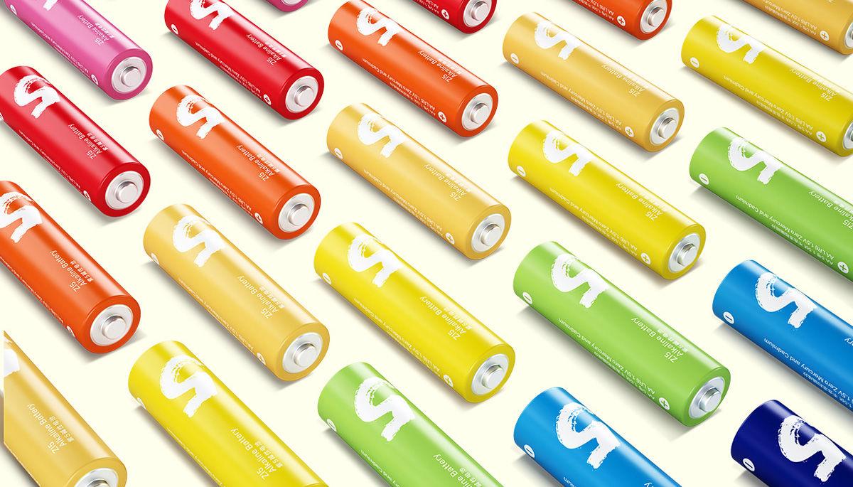Original Xiaomi Rainbow Zi5 1.5V AA Alkaline Battery Set 10Pcs