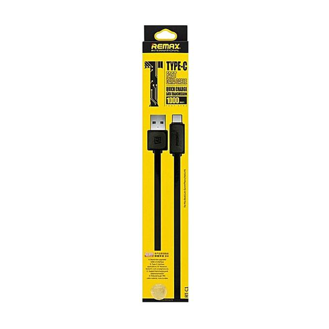 Type-C Fast Charger Data Cable - Black