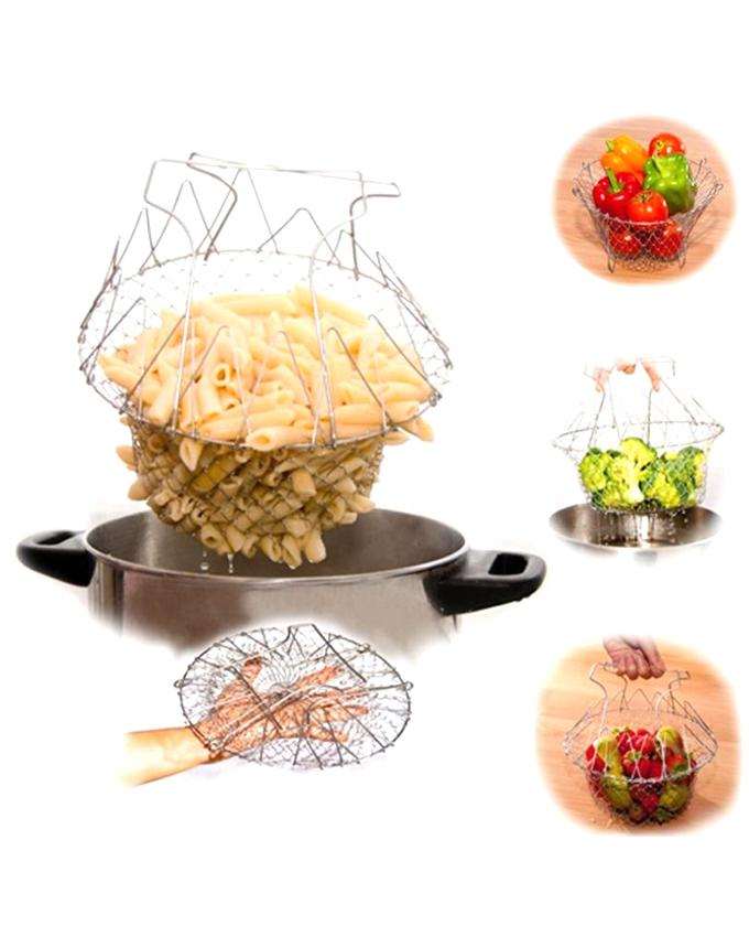Magic Kitchen Chef Basket - Silver