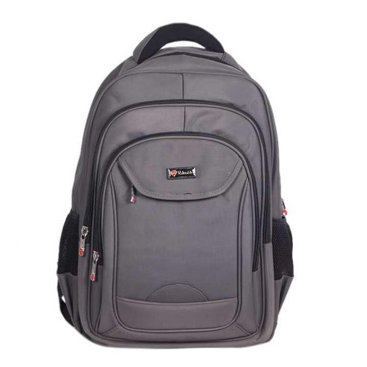 Gray Polystar Backpack For Men