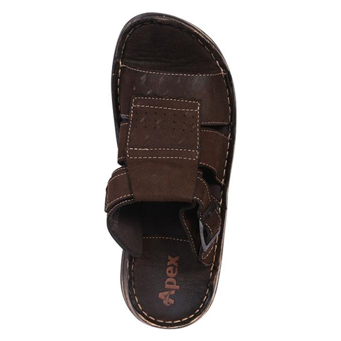 Dark Chocolate Leather Sandal for Men