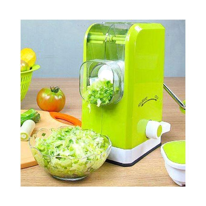 Multifunction Manual Meat Slicer and Vegetable Cutter - Green