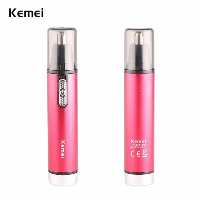 KM-6621 3 in 1 Nose and Hair Timmer - Magenta and Black