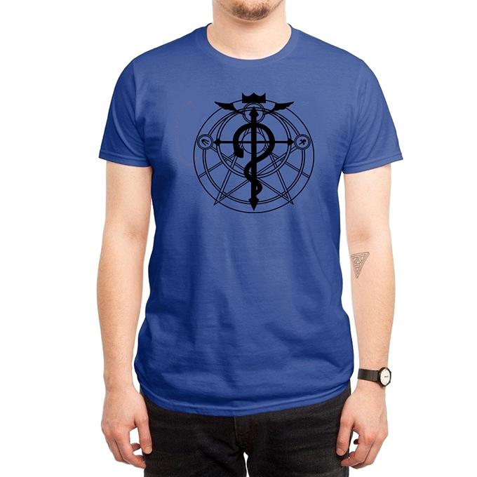 Blue Cotton Snake Question T-Shirt For Men