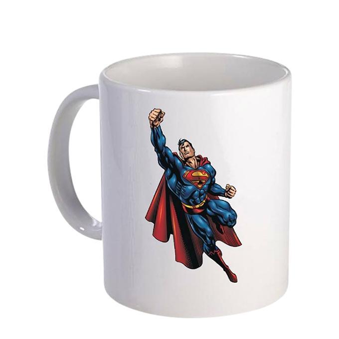Super Man Ceramic  Mug - White