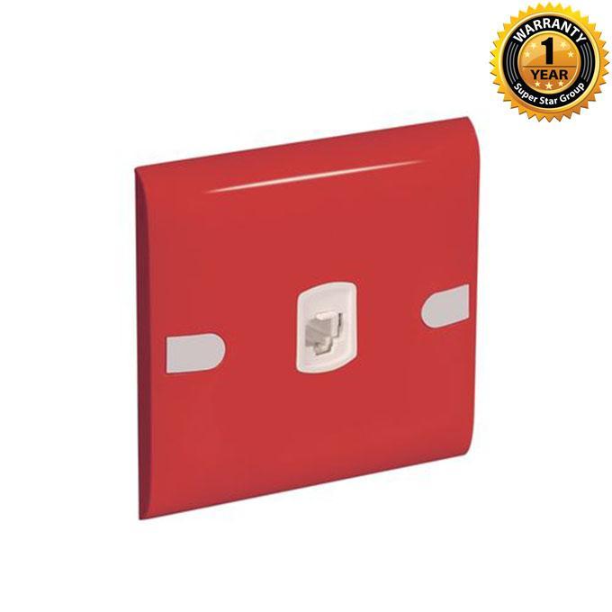 Color Slim Series Color Slim Telephone Socket - Red