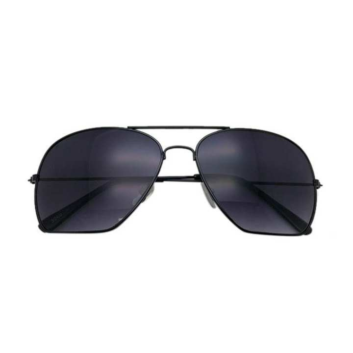Black Plastic and Metal Sunglass For Men