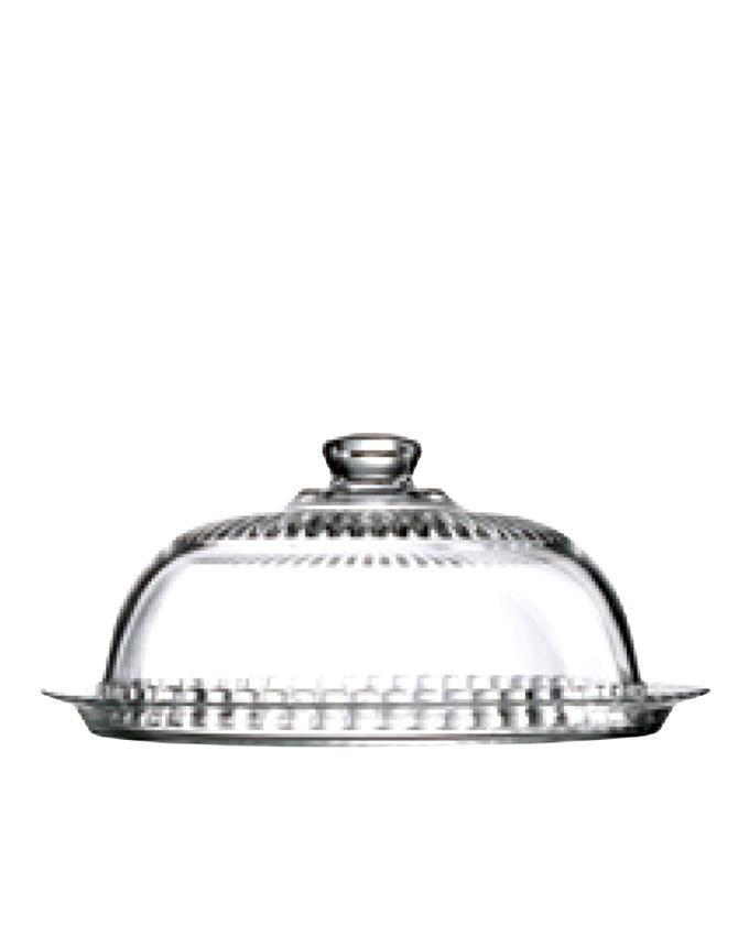 41415 Cake Dish 2 Pcs Set - Transparent White