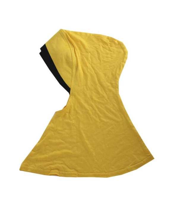 Viscose Cotton Ninja Cap - Yellow and Black