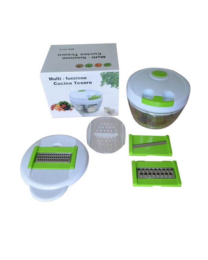 Multi-funtion Kitchen Twister and Mini Chopper Speedy - Green and White