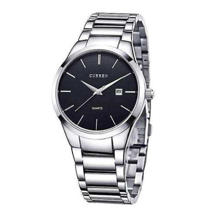8106 Stainless Steel Analog Watch for Men - Silver