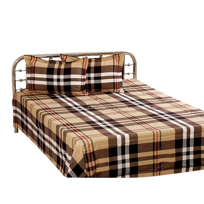Cotton King Size Bedsheet Set - Multicolor