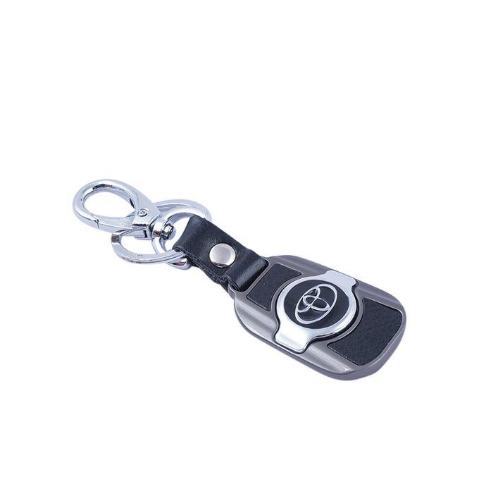 TOYOTA  Key Ring - Black and Silver