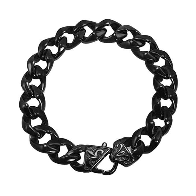 Black Stainless Steel Bracelet for Men