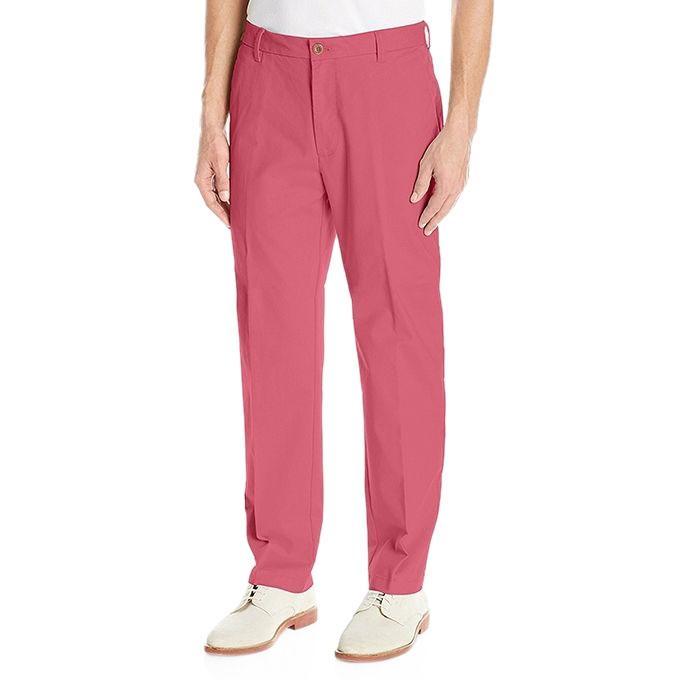Dark Pink IZOD Men's Stretch Chino Pant
