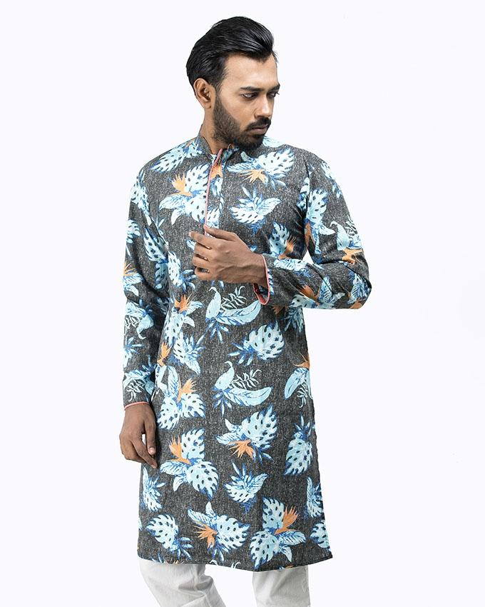 Multicolor Cotton Panjabi For Men