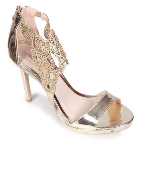 Moochie Beige Smooth Leather Casual High Heeled Sandal for Women