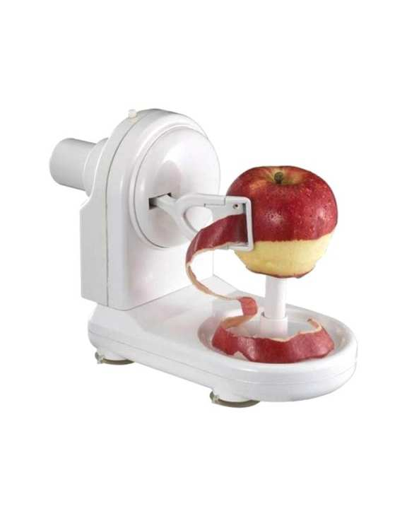 Hand Held Fruits Peeler And Cutter - White