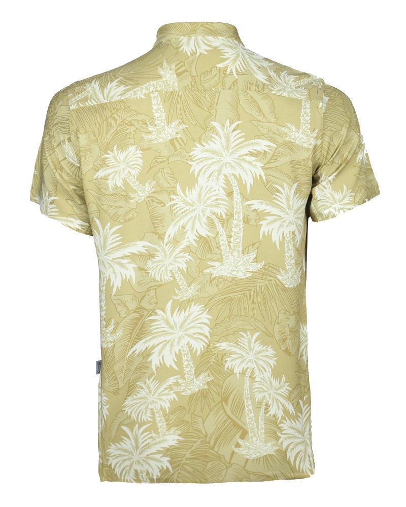 Viscose Casual Short Sleeve Shirt - Tangerine Print