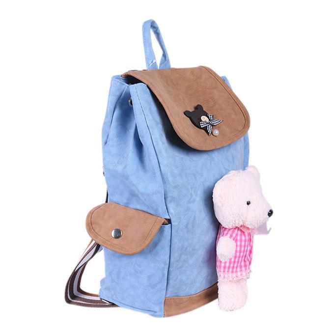 Cotton Backpack For Women - Multi Color