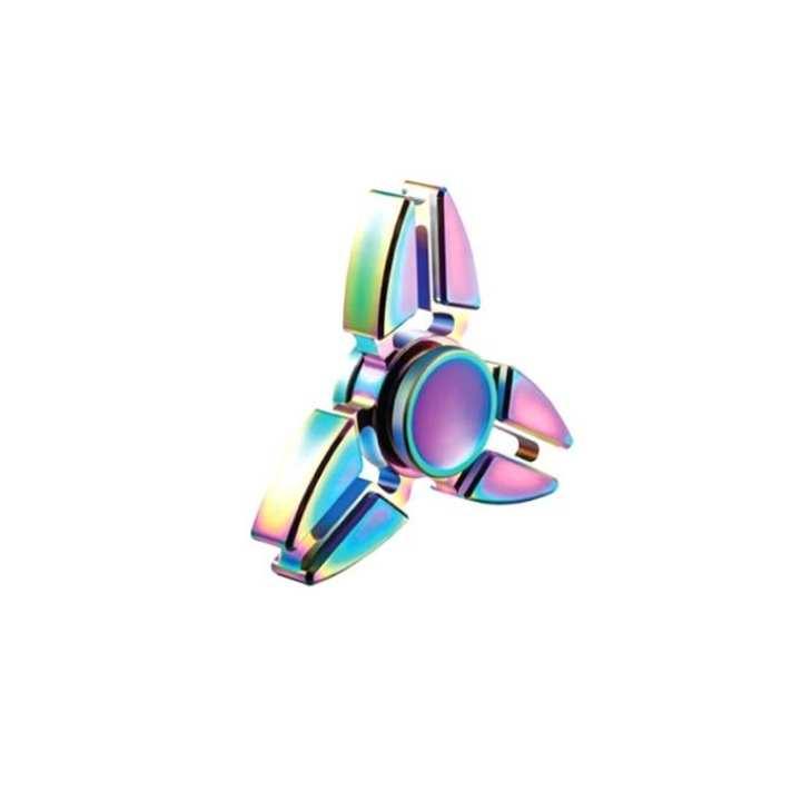 Multicolor Zinc Alloy Fidget Spinner - Metal Crab-MTL401