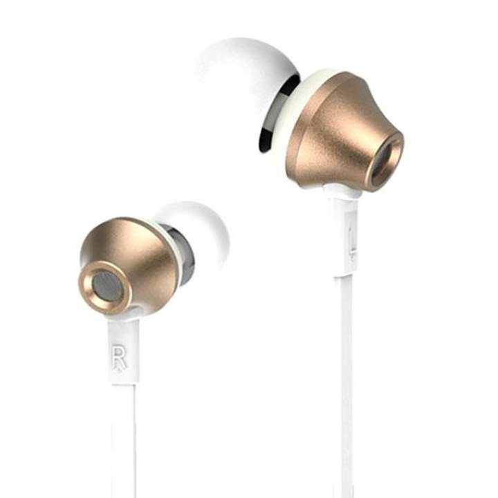 RM-610D Earphone - White & Gold