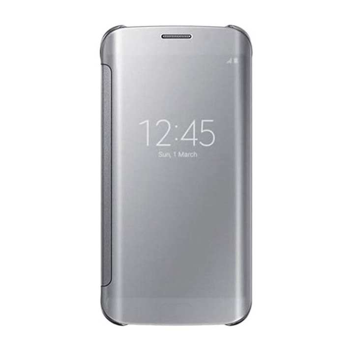 Clear View Official Flip Case Cover for Samsung Galaxy S7 Edge - Silver