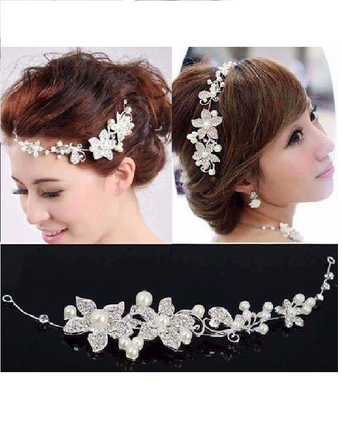 Flower Shaped Hair Band - White