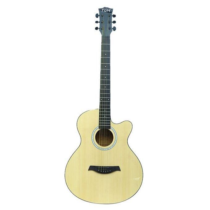 Beige Professional Acoustic  Guitar