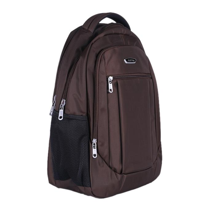 Coffee Polyester Backpack For Men