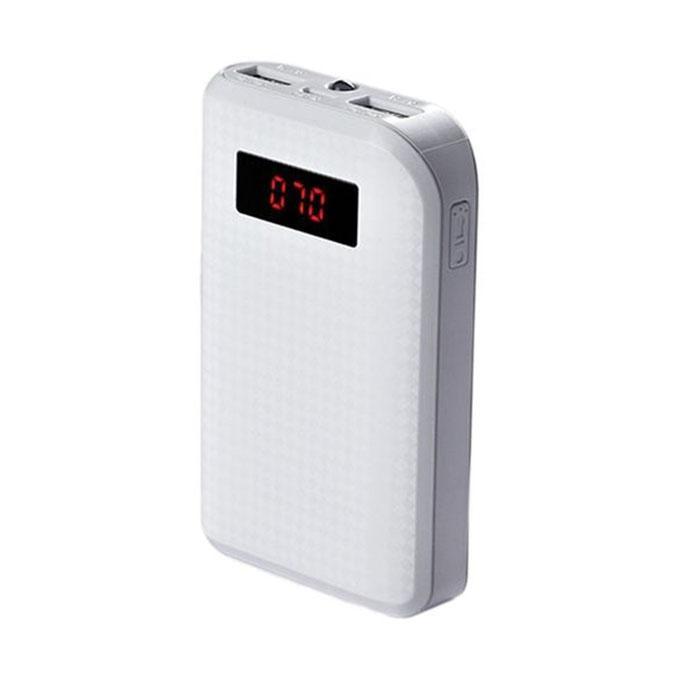 Dual USB Power Bank 10000mAh - White