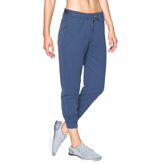 Blue Cotton Trousers For Women