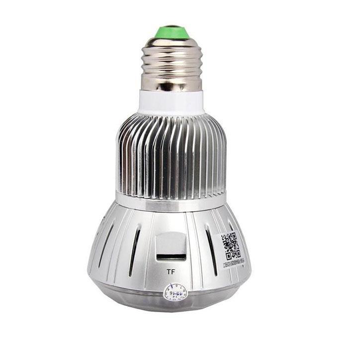 Full HD 1080p Wi-Fi Led Light Bulb Hidden IP Camera - Silver