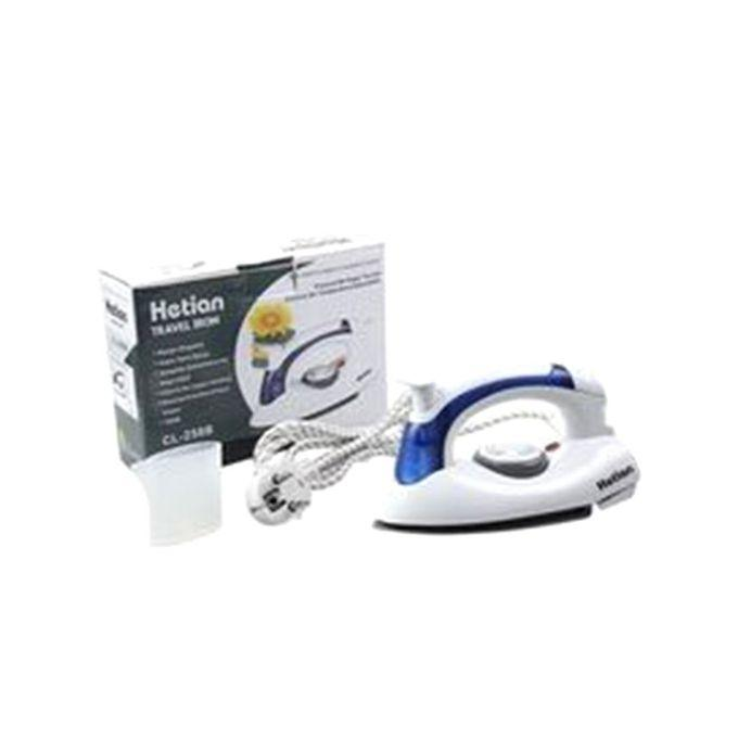 Portable Hetian Travel Iron - White and Blue