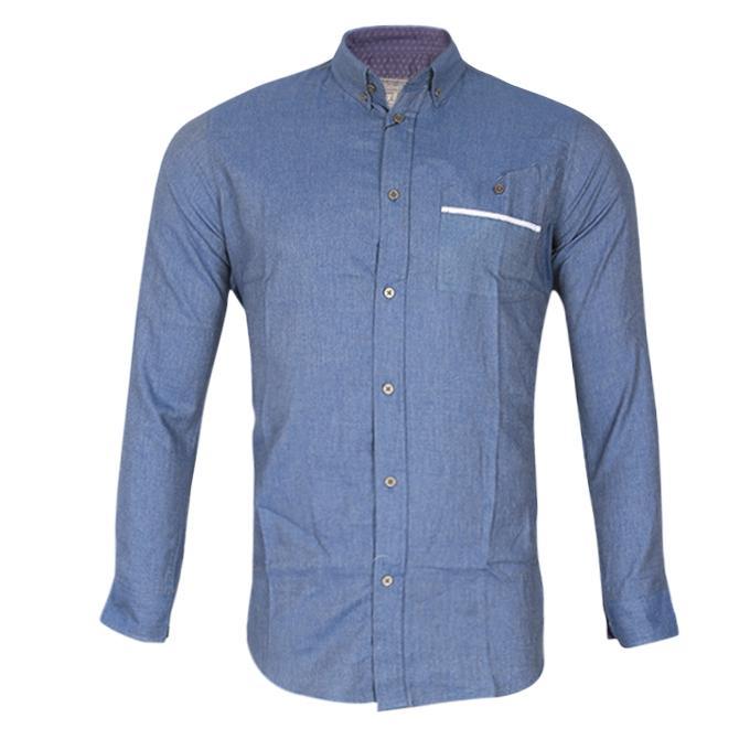 Sky Blue Cotton Casual Shirt for Men