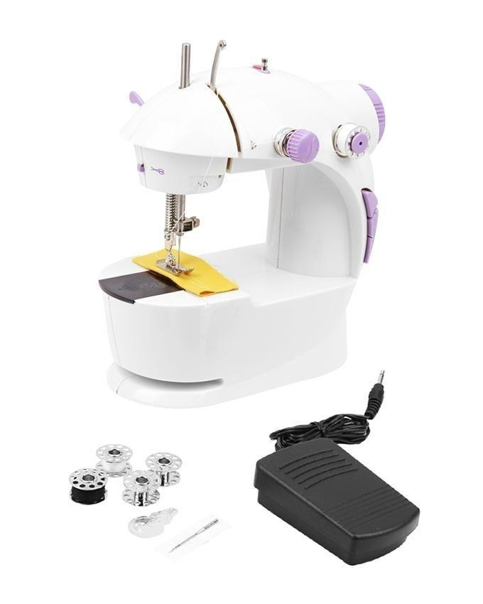 Electric Sewing Machine with Paddle - White