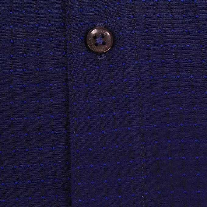 Navy Blue Cotton Casual Shirt for Men