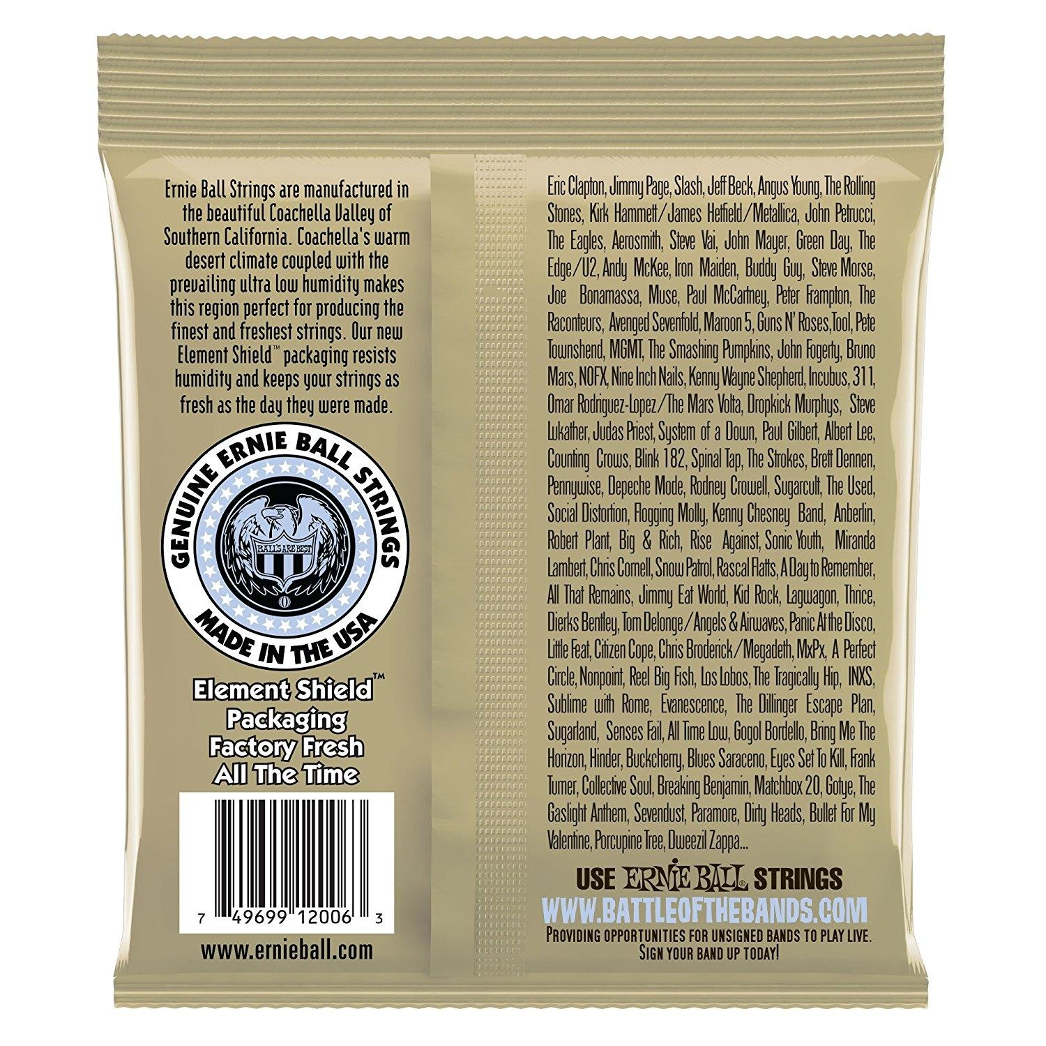 Ernie Ball 2006 Earthwood Extra Light Acoustic Guitar Strings - Silver