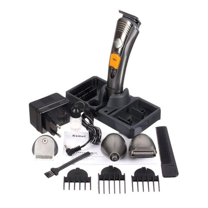 KM-580A 7-in-1 Rechargeable Trimmer and Shaver - Silver