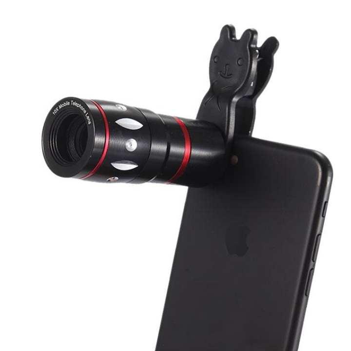 10X Telescope Mobile Phone Camera Lens -Black