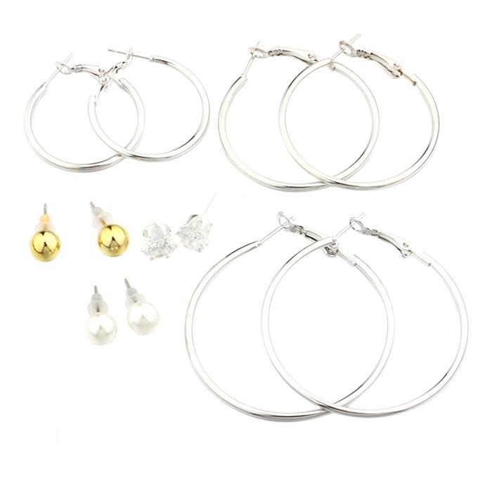 Silver Zinc Alloy Earring Set for Women